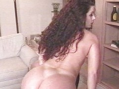 Classic striptease anal ramming