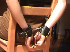 Babe relating to serving-man ricochet boundary and gagged