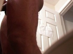 Ripped guy gets aroused apart from watching porn