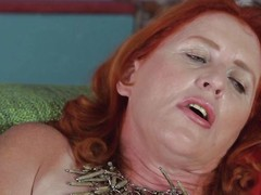 full-grown redhead has her favorite dildo