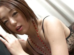 cute asian chick plays with my learn of