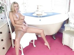 blonde lady spends some time alone