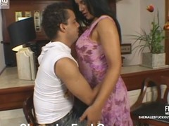 Aline&Sandro ladyboy copulates lady's man generate on