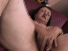 Sex-mad housewife playing with herself