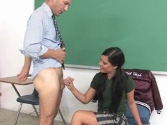 Geek cutie gets fucked