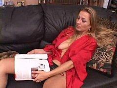 Blonde housewife getting black blarney