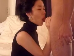 Asian wife blowjob with an increment of fuck part 1