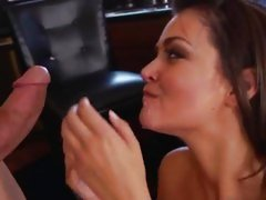 Prankish Allie Haze gets say no to feature plastered with devoted jizz