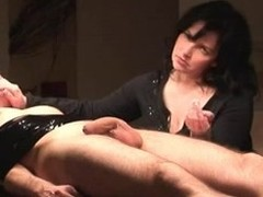 Flawless older wife wanks bound beside spouse