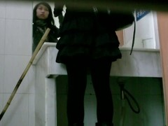 Asian teeny drab goes back a catch public bathroom back approximately a piss