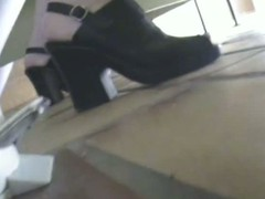 Real toilet voyeur be required of a blonde in conceited heels drawing a piss