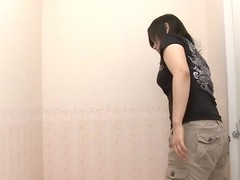Lucrative took off cloths trying on miserly lingerie on voyeur cam