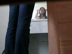 Public bathroom snoop camera catches an Asian girl pissing