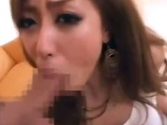 Japanese Lass Gets Cum On Her Tight Leather Pants