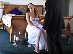 Cute bride getting fucked wide be incumbent on twosome