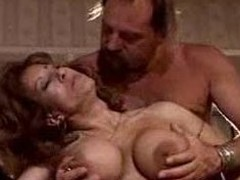 Watching his elderly wife exploited mixed-up with 3 fixed cocks.F70
