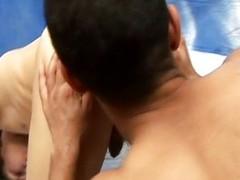 Well-pleased often proles sex with ass sperm felching