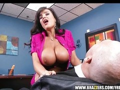 Big-tit MILF Lisa Ann Is slammed unconnected with hard cock