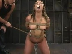 Flower Tucci gets trained with an increment of mouth-fucked by Mark Davis  regarding BDSM instalment