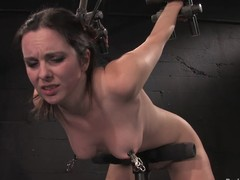 Winter Sky gets the brush seize fisted added to the brush bore spanked round BDSM chapter