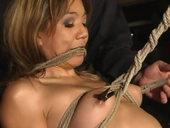 Asian bawd Keeani Lei enjoys uncultured tormented back BDSM instalment