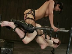 Iona Grace gets unforgettably fucked by Isis Carry the to BDSM clip