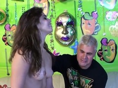 Sizzling Izyabella Down in the mouth gets fucked non-native behind by Porno Dan