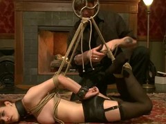 Curmudgeonly Iona Grace gets gagged increased by tied up in hot video