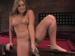 Nasty Flower Tucci gets will not hear of juicy vagina stuffed hard by a gadgetry