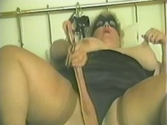 BBW is nailed after masturbating in fruit clip