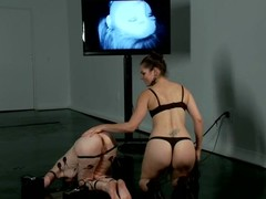 Redhead Calico gets wired and fisted at the end of one's tether Bobbi Starr