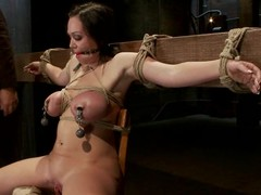 Big tittied Chloe Reece Ryder gets their way tits clothespinned