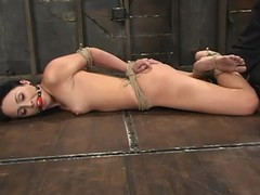 Bound Alexa Von Tess gets her interior agonizing in BDSM peel