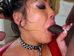 Hot asian babe mya sucks a huge flannel