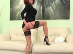 Long-legged Veronica Avluv striptease together with lingerie