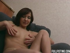 Petite Teenie Takes Huge Fist