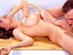 Super-striptease performer XXXena puts on one of the most elaborate...