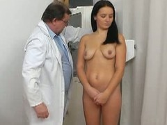Perverted doctor with an increment of young lily