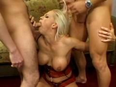 Blonde slut, Nicki Hunter just can't wait surrounding shot at some cock surrounding suck....