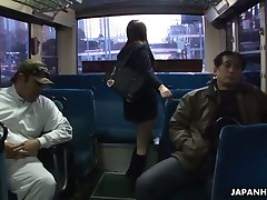 School cutie Yayoi Yoshino gets rammed in bus