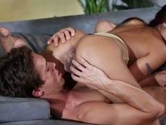 Dark haired oriental pet Kaylani Lei loves oral-job sex so much. This pet gives savage blowjob close by her fuck buddy and then gets her exotic snatch tongue screwed encircling 69 position.