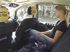 Czech Taxi - Golden-Haired Legal Age Kid gets ride of her LIFE