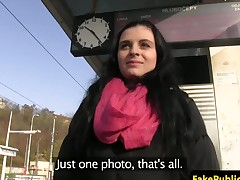Pulled amateur eurobabe rides cock in car