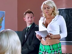 Layla Prices enjoying a hard dick stuffing from her teacher