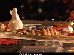 Santa's helper punish 2 nasty girls with big his big cock